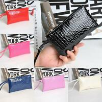 Women Lady Crocodile Leather Clutch Bag Coin Purse Wallet Tote Кошелек