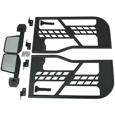 Safari 2 Tube Doors With Side View Mirrors Armor Sets 07-18 Jeep Wrangler JK 2Dr
