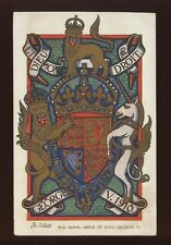 Royalty Royal Arms King George V Tuck Oilette #9870 c1910 PPC