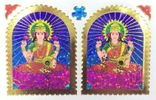 2 X Pegatina Adhesiva de Papel de Aluminio laxmiji tradicional – Pegatina religiosa hindú