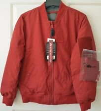 NWT Alpha Industries Ma-1 Down Flight Commander Womens L Red Jacket Reversible