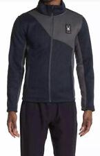 Spyder District Full Zip Jacket Men's Medium Sherpa Lined Frontier Navy