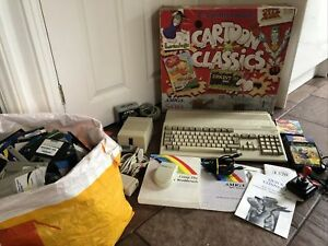 Cartoon Classics Commodore Amiga 500 With All Games & Manuals And Extras,Working