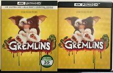 GREMLINS 35TH ANNIVERSARY 4K ULTRA HD BLU RAY 2 DISC SET + SLIPCOVER SLEEVE