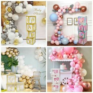 Baby Shower Transparent Box Packing Balloon Boy Girl 1st Birthday Party Decor