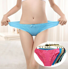 6pcs Ladies Womens Cotton Lace Low Rise sexy Briefs Panties Knickers Full Briefs