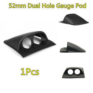 "Car ABS Plastic 2"" 52mm 2 Hole Dash Gauge Pod Dashboard Mount Holder 1X Black"