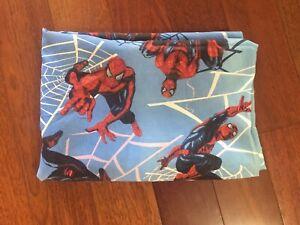 Marvel Spider-Man Twin Flat sheet Spiderman 2002 Dan River Vintage