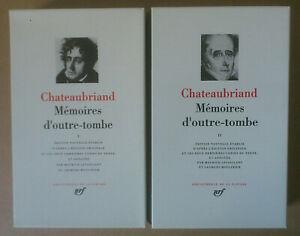 (LA PLÉIADE) -- CHATEAUBRIAND. MÉMOIRES D'OUTRE-TOMBE I & II  -- 1996