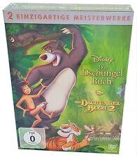 DAS DSCHUNGELBUCH - Teil 1 + 2 - Walt Disney - 2 DVD's - Box - NEU + OVP
