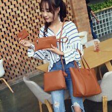 Four Bag Set Women Small Faux Leather Polyester Shoulder Handbag Zipper Tote