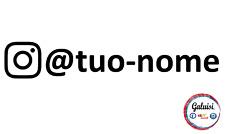 ADESIVO INSTAGRAM Nome o User Name Logo Social diversi colori e grandezze