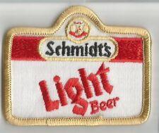 Schmidt Light Beer advertising patch 2-3/8 X 2-7/8 #3438