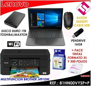 Pack Laptop Lenovo V130-15IKB Multifunction Brother Teletrabajo Office Acrobat
