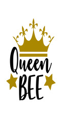 Queen bee Vinyl Decal Sticker for Wine Bottle Craft Glass Party