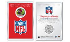 WASHINGTON REDSKINS NFL Helmet JFK Half Dollar Coin w/ NFL Display Case LICENSED
