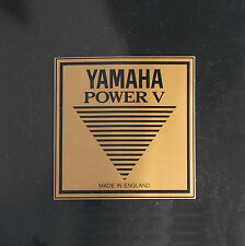 Yamaha Power V Badge/ Logo  Metall, engl. Vintage Schlagzeug