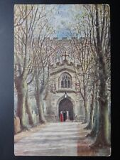 Stratford on Avon Church North Porch, Art by W W Quatremain Pub By J Salmon 909