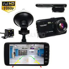 HD 1080P Dual Lens Dash Camera for Cars 4 Inch IPS DVR Recorder +32GB Micro SD