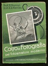 Prof.R.Namias libro Corso di fotografia 1938 ed. Il Progresso Fotografico L003