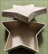 Paper Mache Star Shaped Box and Stars