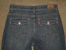 Levis 512 Size 8M Perfectly Slimming Boot Medium Blue Stretch Denim Flap Pockets