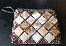 MOTHER OF PEARL AND SEED BEADS CHANGE PURSE (NWOT)