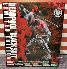 NEW Deadpool Limited Edition Exclusive Black Suit Kotobukiya ArtFX+ Statue