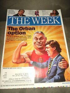 THE WEEK MAGAZINE AUGUST 20 2021- THE ORBAN OPTION DESANTIS MASKS TUCKER CARLSON