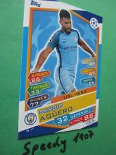 Topps Champions League 2016 17 UCL Hero aguero n11 City 2017 Nordic Edition