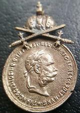 ✚6923✚ Austria Hungary Signum Laudis Military Merit Medal silver MINIATURE SWORD