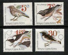 CYPRUS 1991, BIRDS, Scott 781-784, MNH