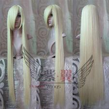 150cm Femmes Blond longue droit haute qualité COS fête Perruque, 60in