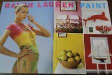 Ralph Lauren Magazine Print Ad 3 page Original Vintage