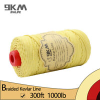 300ft 1000lb Kevlar Braided Line Climbing Cord Camping Sports Made with Kevlar