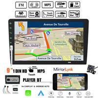 9''1 Din Autoradio Siri Android Auto+Caméra iOS Lien Miroir BT TF FM MP5