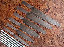 2 DAMASCUS BLADE 6Pcs. BLANK KNIVES SETS. Toatal 12 Blank Knives A-E 71-2Blank
