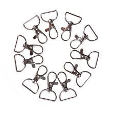 10pcs/set Silver Metal Lanyard Hook Swivel Snap Hooks Key Chain Clasp Clips HGUK