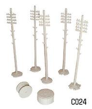 Dapol C024 - Telegraph Poles & Cable Drums 00 Gauge Plastic Kit - 1st Class Post