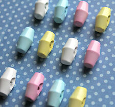 Baby Toggle Buttons 19mm Choice of Colour - White, Pink, Blue or Lemon