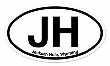 "JH Jackson Hole Wyoming WY Oval car window bumper sticker decal 5"" x 3"""