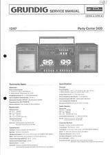 Grundig ORIGINALE Service Manual PER PARTY CENTER PARTY CENTER 2400