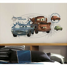 Cars 2 MATER & FINN McMISSILE decals with Augmented Reality 6 wall sticker MURAL