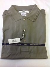 NWT MENS LARGE DONALD JEWELL MERCERIZED COTTON PIQUE GOLF POLO SHIRT OLIVE