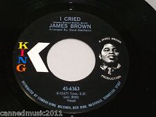 James Brown: I Cried / World Pt. 2  [Unplayed Copy]