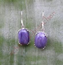 Earring CHAROIT Purple Stone SIBERIAN x New Sterling Silver 925