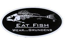 Grundens Eat Fiah 7�x3.5� Decal Grundens Eat Fish Wear Grundens Vinyl Sticker