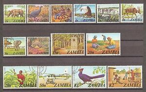 ZAMBIA 1975 SG 226/39 Fine used Cat £17