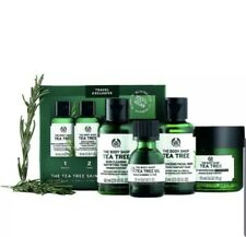 The Body Shop Tea Tree Skin Clearing Travel Collection(Wash,Toner,Oil,NightMask)