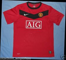 MANCHESTER United / 2009-2010 Home - NIKE - JUNIOR Shirt / Jersey. Size: 12/13y